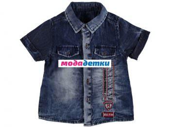 рубашка 1-2-3-4 года (джинс)
