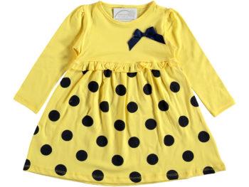 Платье с горох 2/5 лет жёлтое 318350